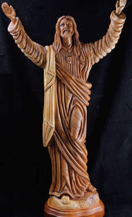 Jesus rising hands