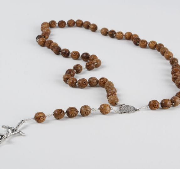 Rosary with large carved bead