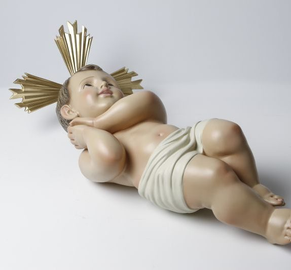 Clay statute of baby Jesus small - Size 1